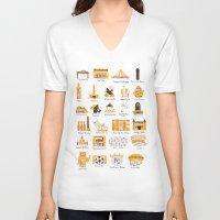 kansas city V-neck T-shirts featuring I Love Kansas City by HelloKaterTot
