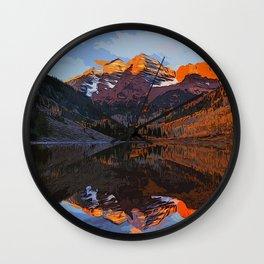 The Wonderful Maroon Bells in Autumn Wall Clock