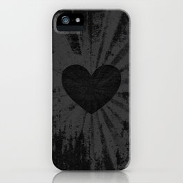 Black heart iPhone Case