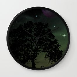 Spaceview at Sunset Wall Clock