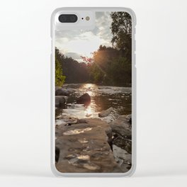 Looking Downstream Clear iPhone Case