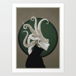 Octopus Portrait Art Print