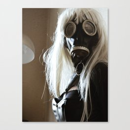 Gas Mask Girl Canvas Print