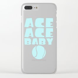Ace Ace Baby Funny Tennis Player Pun Clear iPhone Case