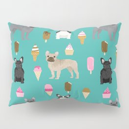 frenchie ice cream cute funny dog breed pet pattern french bulldog Pillow Sham