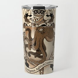 Octopus Coat Of Arms Heraldry Travel Mug