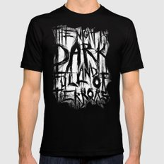 The night is dark and full of terrors Black Mens Fitted Tee MEDIUM