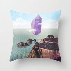 Purple trance Throw Pillow