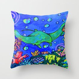 Mr. Ray Throw Pillow