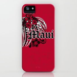 Maui Poly Tribal Distressed iPhone Case