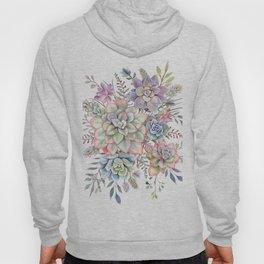 Watercolor Succulent #56 Hoody