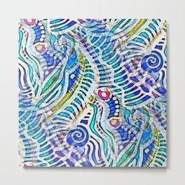 Under the Sea Abstract Nautilus  Metal Print