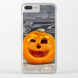 old wrinkled pumpkin Clear iPhone Case