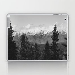 Snow Capped Sierras - Black and White Nature Photography Laptop & iPad Skin