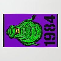 "1984 Area & Throw Rugs featuring ""Mourning My Youth"" Series  