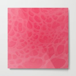 Pattern SPOTS Pinkish Metal Print