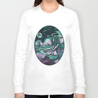 mythology Long Sleeve T-shirts featuring Mermaid Siren Pearl of atlantis mythology by Scott Jackson Monsterman Graphic