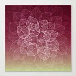 Dry Leaves - Wine Canvas Print