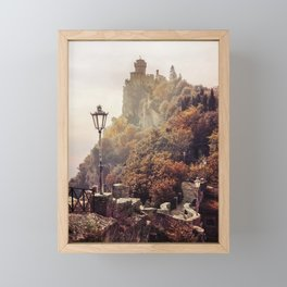 One sunny morning in San Marino Framed Mini Art Print