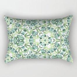 Green petal kaleidoscope  Rectangular Pillow
