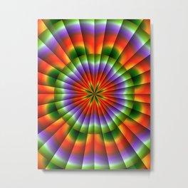 Pulsating Rainbow Wheel Metal Print