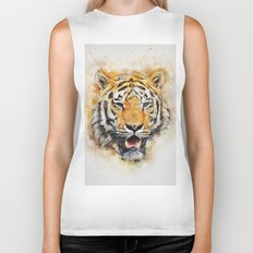 Tiger Abstract Biker Tank