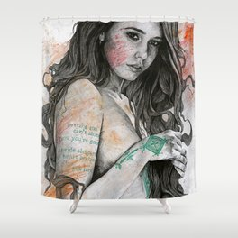 You Lied (nude girl with mandala tattoos) Shower Curtain
