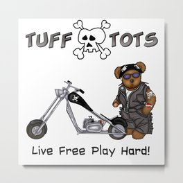 Tuff Tots Huggy Bear Metal Print