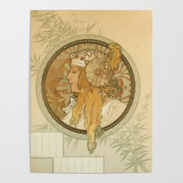 "Alphonse Mucha ""Byzantine Head: The Blonde"" Poster"