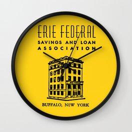 Erie Federal Savings & Loan Wall Clock