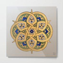 Persian Brass Plate Metal Print