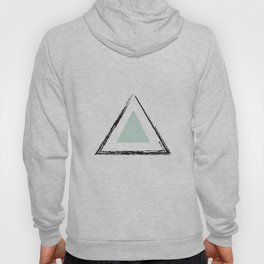 Mint Triangles Hoody