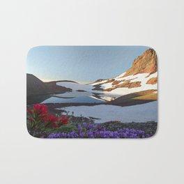 Alpine Wildflowers Bath Mat