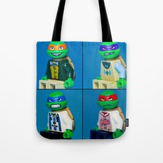 Dorky Teenage Yearbook Turtles Tote Bag