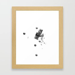 Starwars in space  Framed Art Print