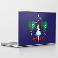 alice wonderland Laptop & iPad Skins featuring Wonderland by AmadeuxArt