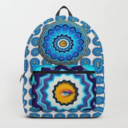 Blue Rose Mandala Backpack