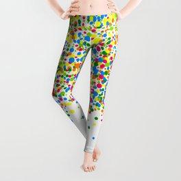 Rain of colorful confetti Leggings
