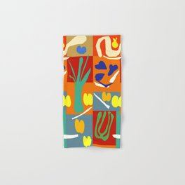 Matisse Inspired Colorful Collage #2 Hand & Bath Towel