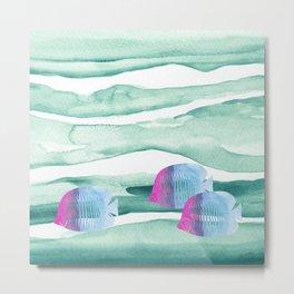 Green Ocean Metal Print