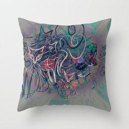 Alice and the Foxes Throw Pillow