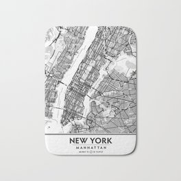 New York City Showing Manhattan, Brooklyn and New Jersey Bath Mat