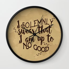 Marauder's Map - I solemnly swear that I am up to no good Wall Clock
