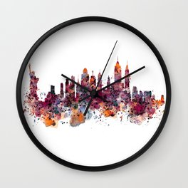 New York Skyline Silhouette Wall Clock
