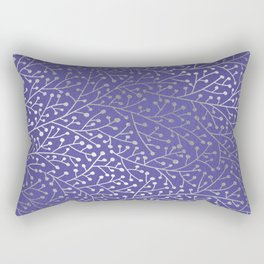 Periwinkle Berry Branches Rectangular Pillow