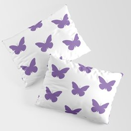 Purple Butterfly Pattern and Print Pillow Sham