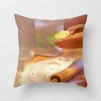 baking Throw Pillows featuring Baking by Karen Herman Jacquez