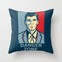 archer Throw Pillows featuring Archer by Mental Activity