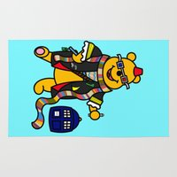 pooh Area & Throw Rugs featuring Doctor Pooh by Murphis the Scurpix