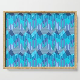 ZigZag All Day - Blue Serving Tray